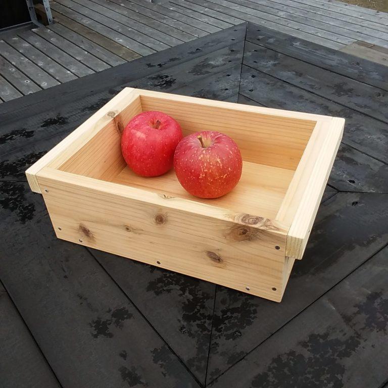 ミニリンゴ箱づくり