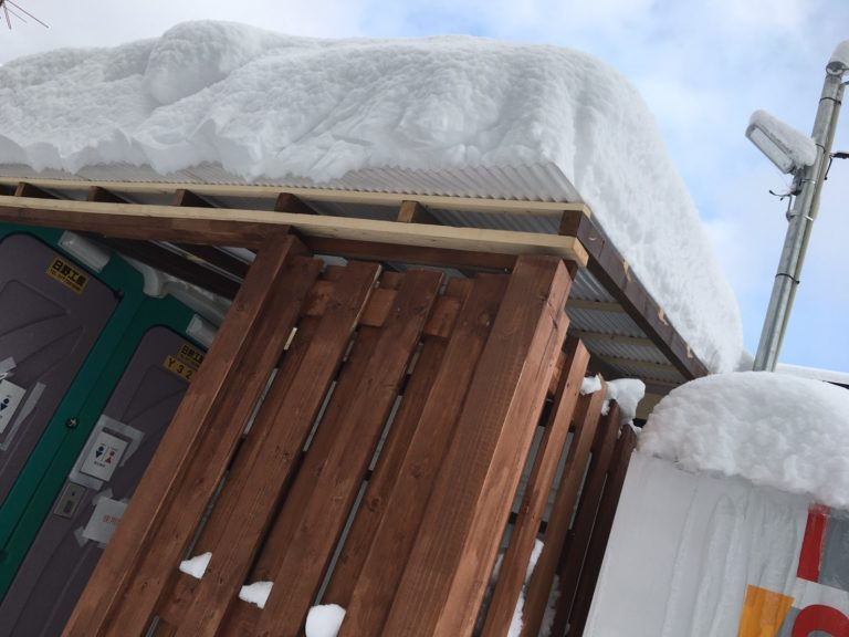 屋根が付きました!!☃